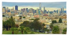 The City From Dolores Park Hand Towel