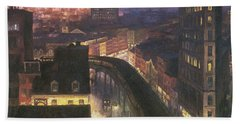 The City From Greenwich Village Hand Towel