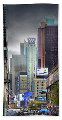 The City Of Skyscrapers Bath Towel by Mark Andrew Thomas