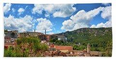 Bath Towel featuring the photograph The City Of Tarragona And A Beautiful Sky by Eduardo Jose Accorinti