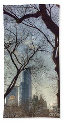 The City Through The Trees Hand Towel
