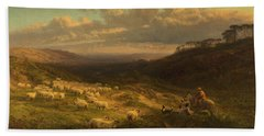 The Closing Day, Scene In Sussex Hand Towel by George Vicat Cole