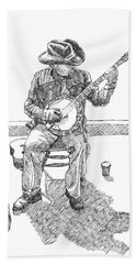 The Cold Banjo Player Hand Towel