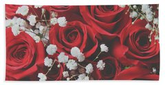 Hand Towel featuring the photograph The Color Of Love by Laurie Search