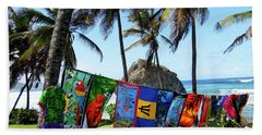 Hand Towel featuring the photograph The Colors Of Barbados by Kurt Van Wagner