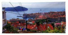 The Colourful City Of Dubrovnik Hand Towel