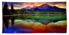The Colours The Mountain Sees When She Closes Her Eyes Bath Towel