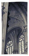 The Columns Of Saint-eustache, Paris, France. Bath Towel