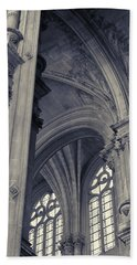 The Columns Of Saint-eustache, Paris, France. Bath Towel
