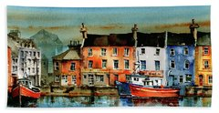 The Commercial Docks, Galway Citie Bath Towel