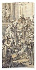 The Consecration Of Saint Juliana Falconieri Bath Towel