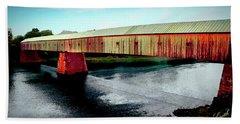 The Cornish-windsor Covered Bridge  Bath Towel