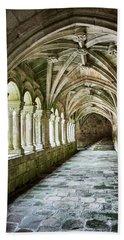 Bath Towel featuring the photograph The Corridors Of The Monastery by Eduardo Jose Accorinti