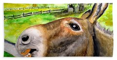 The Country Mule Hand Towel by Carol Grimes