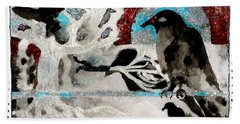 The Courage To Arive In Winter Hand Towel