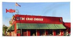 The Crab Cooker In Balboa Park Newport Beach California Hand Towel