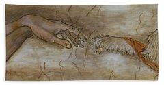 The Creation Of Humanity Bath Towel