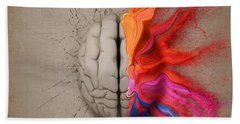 The Creative Brain Hand Towel by Johan Swanepoel