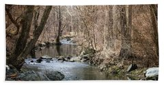 Hand Towel featuring the photograph The Creek by Judy Wolinsky