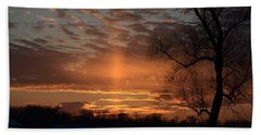 The Cross In The Sunset Bath Towel