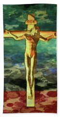 The Crucific Pop Art By Mary Bassett Hand Towel