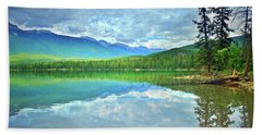 Hand Towel featuring the photograph The Crystal Waters Of Lake Annette by Tara Turner