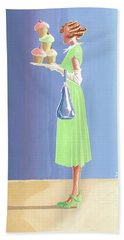 The Cupcake Lady Hand Towel