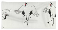 The Curtsy Lesson Hand Towel by Stephanie Grant