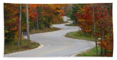 The Curvy Road Hand Towel by Greta Larson Photography