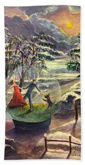 The Dance Of Life Hand Towel by Randy Burns