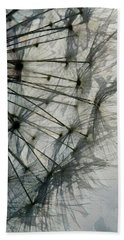 Hand Towel featuring the digital art The Dandelion Silhouette by Steve Taylor