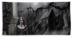 Hand Towel featuring the painting The Dark Caster Awaits by James Christopher Hill
