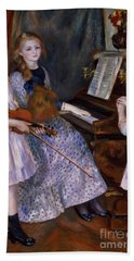 The Daughters Of Catulle Mendes At The Piano, 1888 Bath Towel
