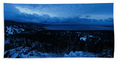 The Dawn Of Winter Hand Towel by Sean Sarsfield