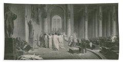 The Death Of Julius Caesar Hand Towel