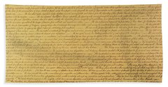 Us Constitution Hand Towels