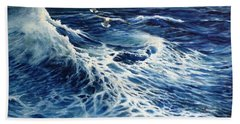 The Deep Blue Sea Hand Towel by Eileen Patten Oliver