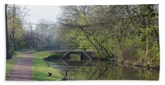 The Delaware Canal - Morrisville Pennsylvania Bath Towel by Bill Cannon
