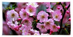 Bath Towel featuring the photograph The Delicate Cherry Blossoms by Patti Whitten