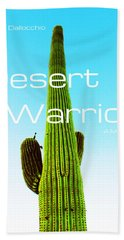 The Desert Warrior Poster Vi Bath Towel