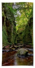 The Devil Pulpit At Finnich Glen Bath Towel