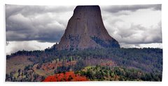 The Devils Tower Wy Hand Towel