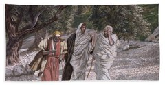 The Disciples On The Road To Emmaus Hand Towel