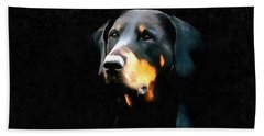 The Doberman Pinscher Bath Towel
