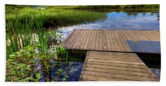 The Dock At Mountainman Bath Towel by David Patterson
