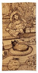 The Doll, The Kitties And The Gingerbread Boy Bath Towel