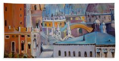 The Domes In Italy Bath Towel