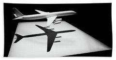 Bath Towel featuring the digital art The Douglas Dc-8 by Steve Taylor