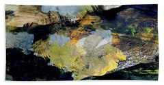 Hand Towel featuring the painting The Dream Of Gold by Nancy Kane Chapman