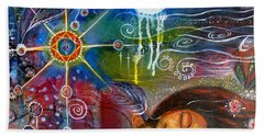 Bath Towel featuring the painting The Dreamer by Prerna Poojara